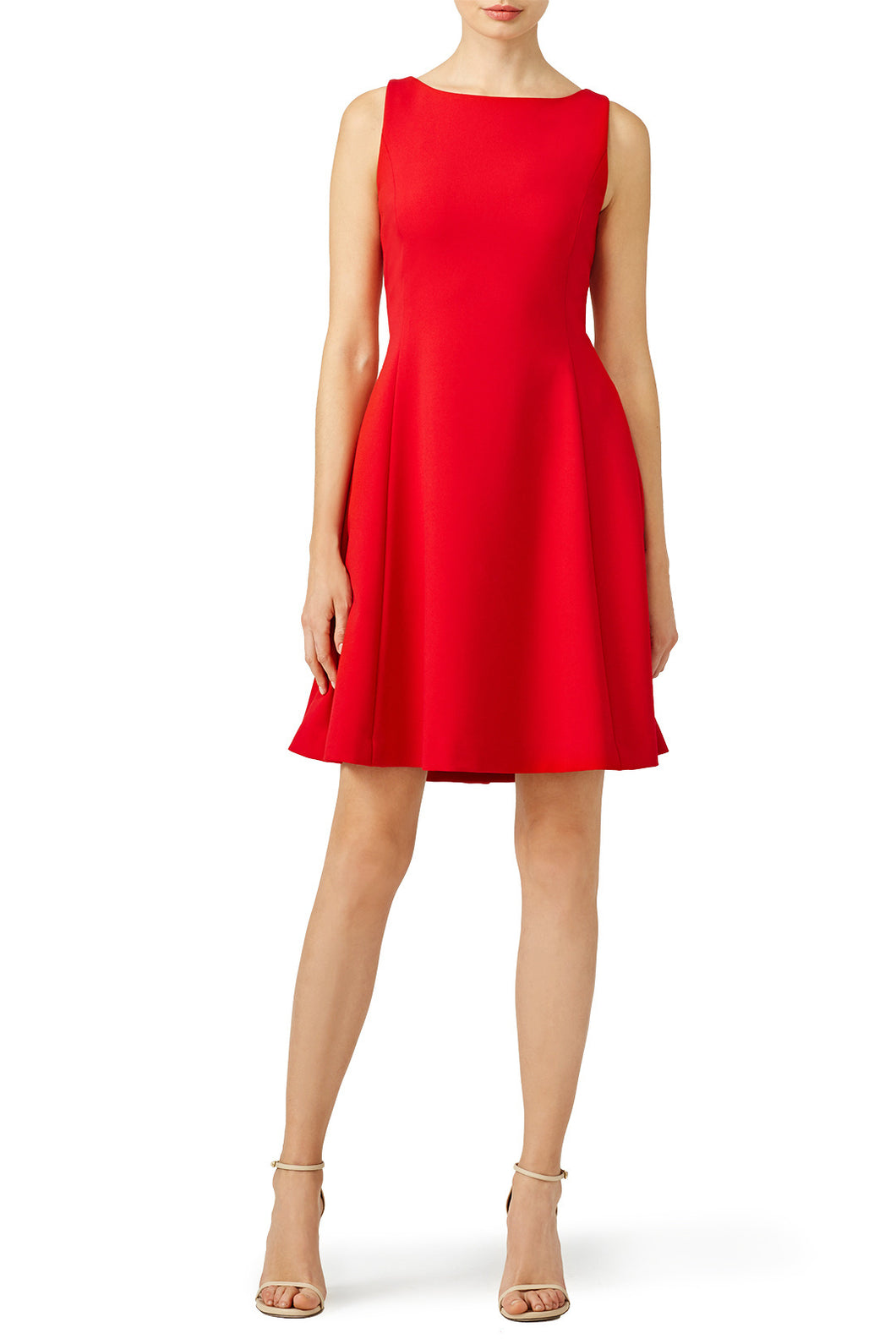 Pink Tartan Red Open Neck Dress - Size 0