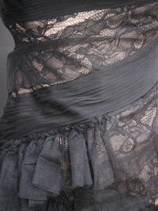 BCBG MaxAzria Runway Asymmetric Tulle Lace Bustier Dress - Sizes 0 & 8.