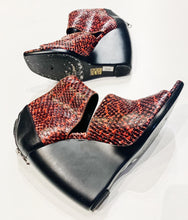 Balenciaga Snakeskin Wedge Shoes Size 38