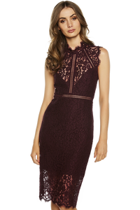 Bardot Lace Panel Dress Size 6