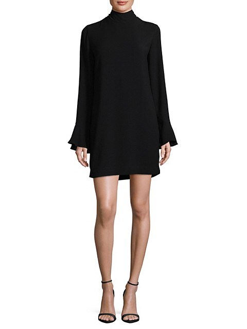 IRO High-Neck Bell-Sleeve Dress, Size 36