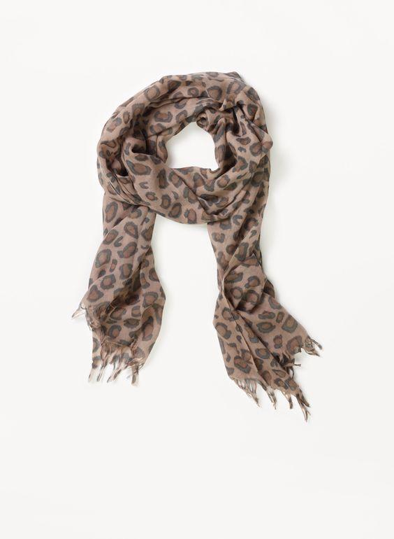 Wilfred Leopard Scarf