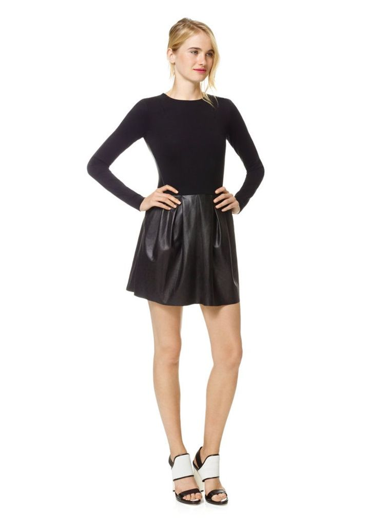 Wilfred Tartine Faux Leather Dress - Size 2