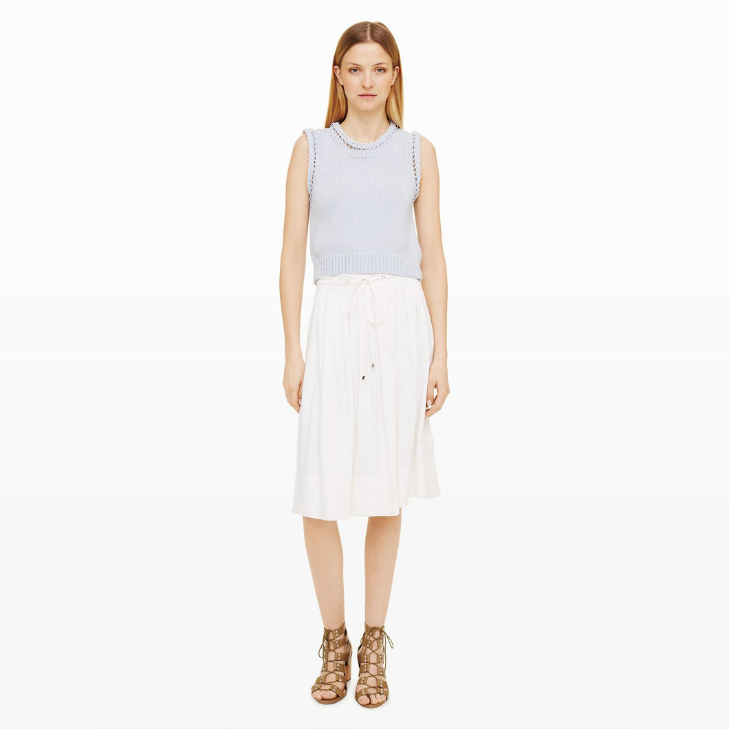 Club Monaco Maneeza Pleated White Skirt Size 4