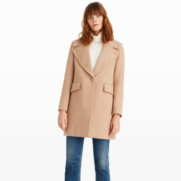 Club Monaco Beige Wool Coat Size XS