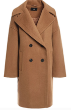 Line Double Breasted Brushed Wool Wool Coat Size XS