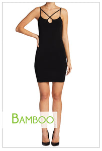 Cross Front Bamboo Slip Dress ONE SIZE