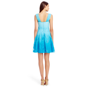 DVF Lesly Blue Ombre Dress - Size 4