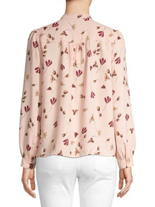 Joie Long-Sleeve Floral Blouse, size S