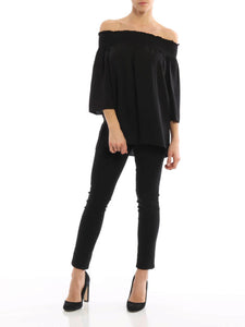 Theory Elistaire Off-Shoulder Blouse