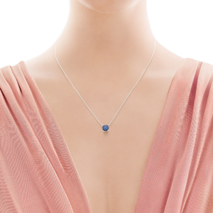 Tiffany Sugar Stacks Sapphire Pendant in 18K White Gold by Paloma Picasso