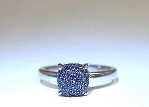 Tiffany Sugar Stacks Sapphire Ring in 18K White Gold by Paloma Picasso