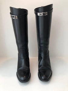 Hermes Jumping Leather Riding Boots Size 38