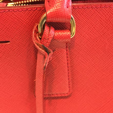 Prada Red Saffiano Medium Satchel