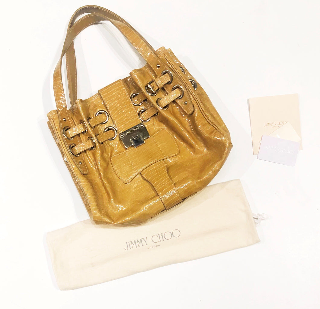 Jimmy Choo Patent Leather Riki Bag