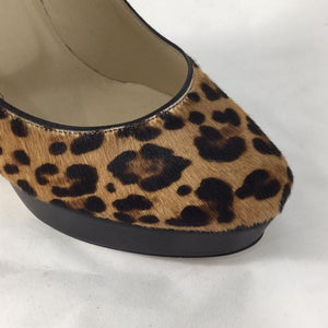 Jimmy Choo Leopard Pony Hair Platforms - Size 39