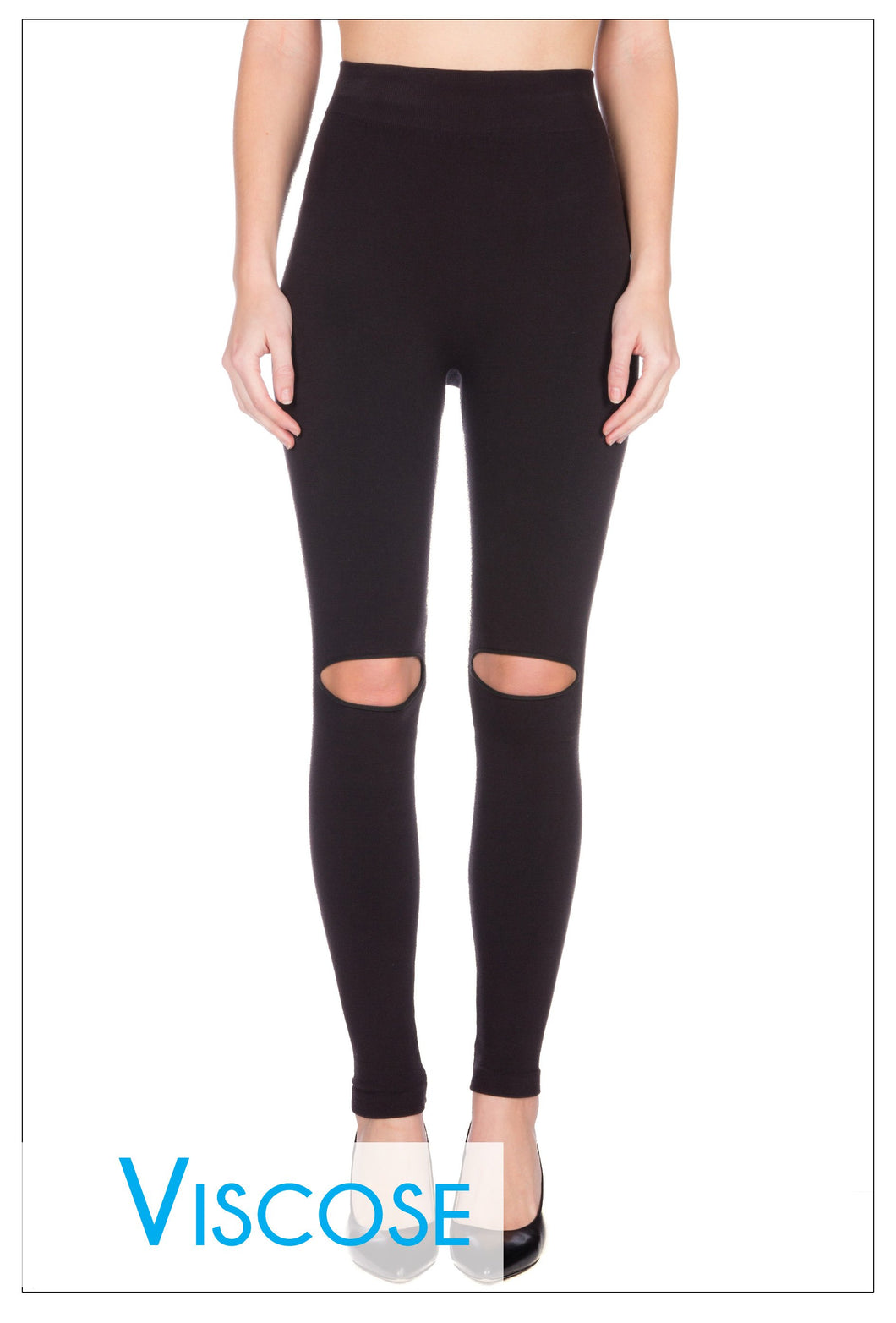 Knee Slit Leggings ONE SIZE