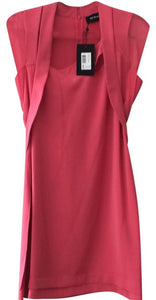 The Kooples Asymmetrical Chiffon & Crepe Dress