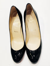 Christian Louboutin Black Patent Simple Pumps Size 38