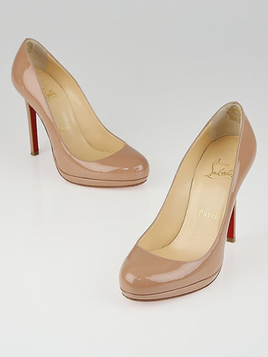 Christian Louboutin Nude Beige Patent Pumps Size 36.5