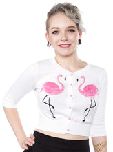 Collectif Mainline Lucy Flamingo Cardigan - Size XL (M)