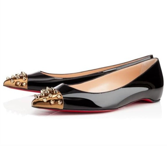 Christian Louboutin Geo Spiked Flats- Size 35.5