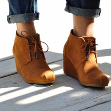 Toms Desert Wedge Booties - Size 6.5