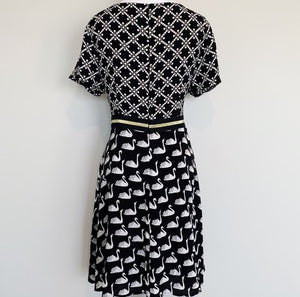 Maeve by Anthropologie Amici Swan Print Dress, Size 6