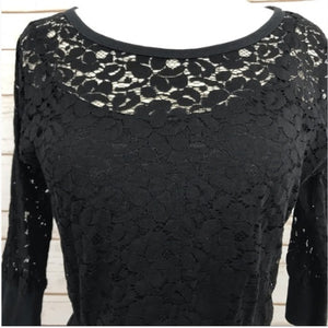 Anthropologie Staci Woo Adara Black Lace Dress, Size S