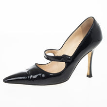 Manolo Blahnik Black Patent Pumps Size 37