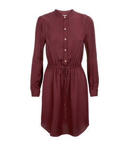 Michael Kors Drawstring Silk Shirtdress