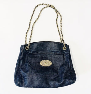 Mulberry Black Leather Metallic Lily Bag