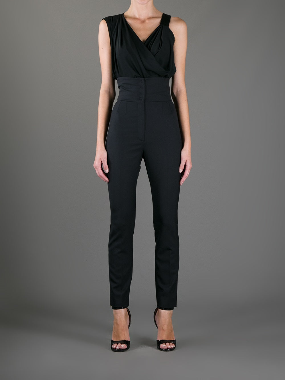 D&G High Waist Black Pants Size 42
