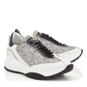 Jimmy Choo Raine Platinum Mix Sneakers Size 38.5