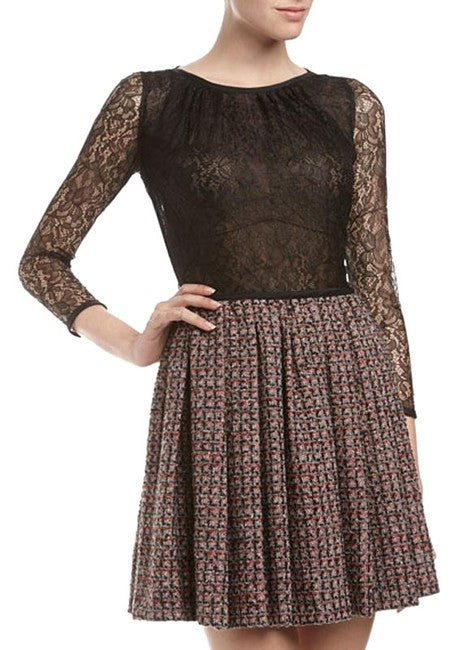 Red Valentino Lace/Tweed Dress - Size 40