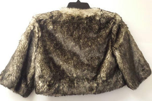 Robbi & Nikki Cropped Faux Fur Jacket, Size S
