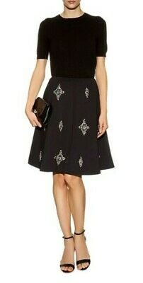 Ted Baker Women's Black Samya Embellished Skirt Size 0