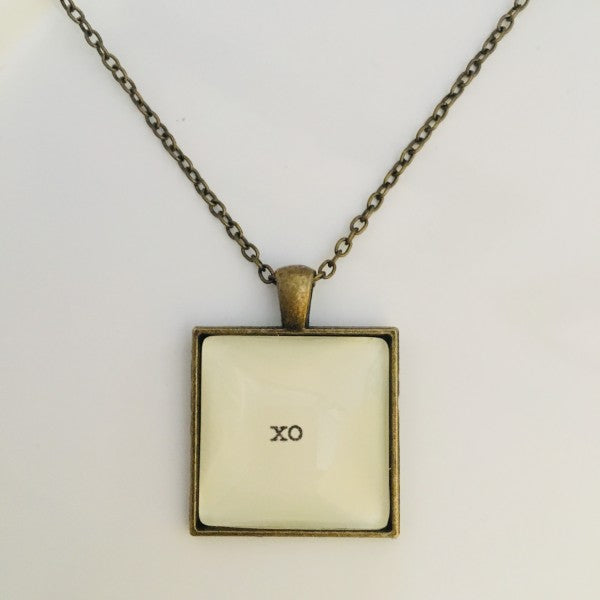 Santosha Poetry Necklace - XO