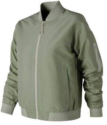 New Balance Luxe Sateen Bomber Jacket, Size L