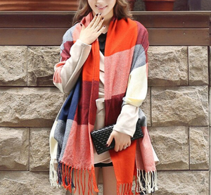 Mulitcolour Plaid Scarf