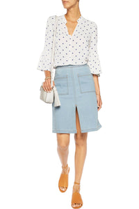 Splendid Split Front Denim Skirt