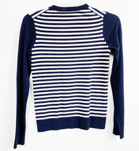 Theory Blue Stripe Sweater Size S
