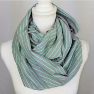 Lululemon Grey / Mint Green Vinyasa Scarf