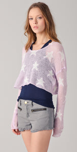 Wildfox White Label Rodeo Star Cropped Sweater - Size M