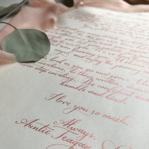 Large Love Letter/Proposal/Vow for framing