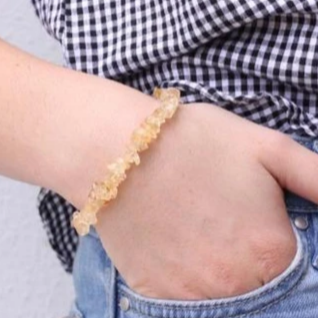 Citrine quartz Crystal Chip Bracelet