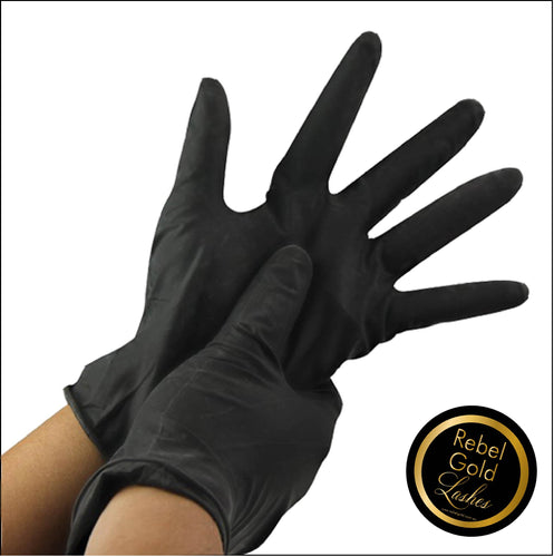Nitrile Black Powder Free Gloves - 5 Pair Pack MEDIUM