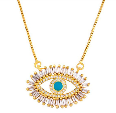 evil eye necklace - large