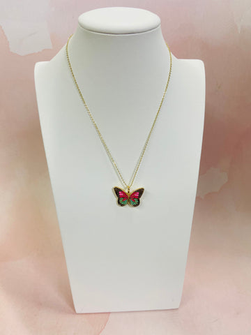 bblila: fly butterfly necklace