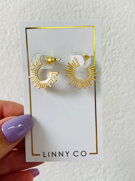 linny co: chloe hoops